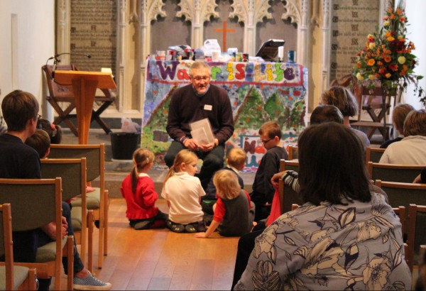 Jolyon shared a Bible story with us